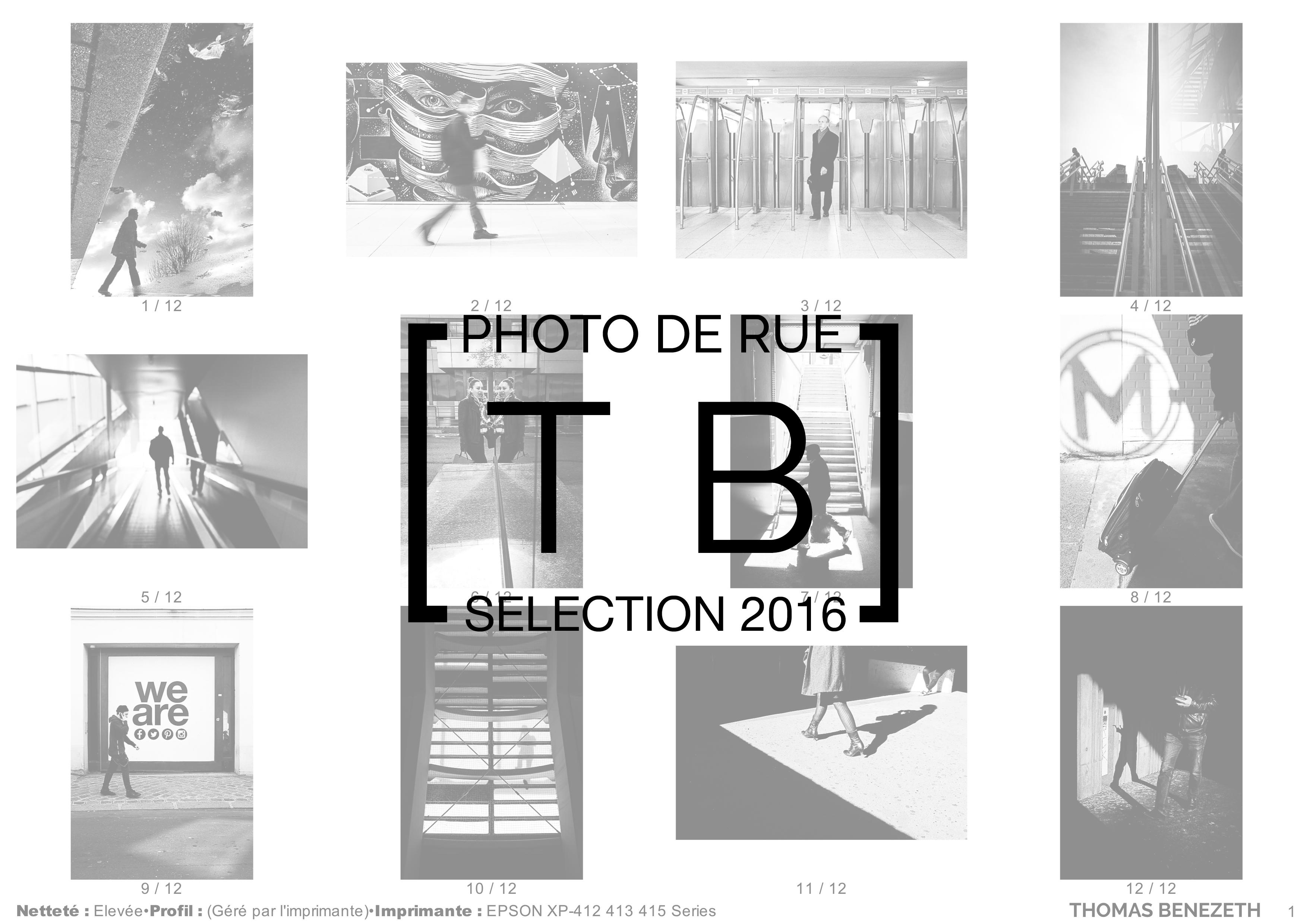 [Photo de rue] 2016 en 12 poses !